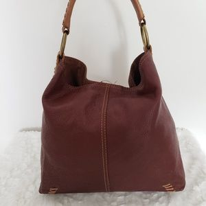 Lucky Brand Vintage Inspired Hobo Leather Bag